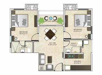 890 sqft, 2 bhk Apartment in DTC Southern Heights Joka, Kolkata at Rs. 0