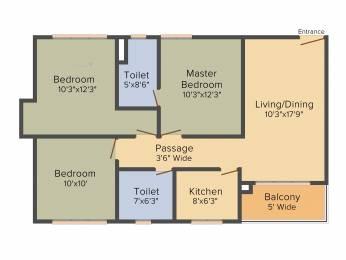 1719 sqft, 3 bhk Apartment in Mani Shankhmani Tollygunge, Kolkata at Rs. 0