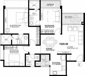 1380 sqft, 3 bhk Apartment in Duville Riverdale Residences I Kharadi, Pune at Rs. 0