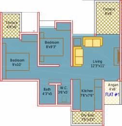 780 sqft, 2 bhk Apartment in Mantra Insignia Mundhwa, Pune at Rs. 0