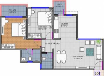 1050 sqft, 2 bhk Apartment in Goel Ganga Newtown Phase I Dhanori, Pune at Rs. 0