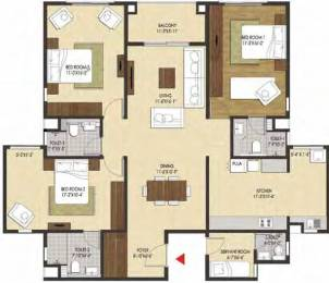 1991 sqft, 3 bhk Apartment in Brigade Xanadu Mogappair, Chennai at Rs. 0