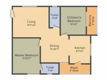 1149 sqft, 2 bhk Apartment in Hallmark Silvanus Manikonda, Hyderabad at Rs. 0