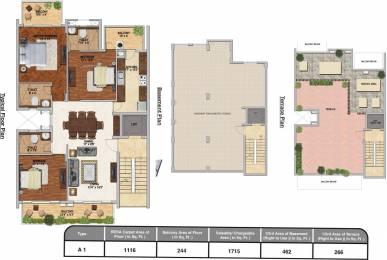 2443 sqft, 3 bhk Apartment in Adani Brahma Samsara Sector 60, Gurgaon at Rs. 0