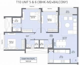 1023.32 sqft, 3 bhk Apartment in L&T Emerald Isle T10 Powai, Mumbai at Rs. 0