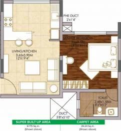 621.62 sqft, 1 bhk Apartment in Brigade Woods ITPL, Bangalore at Rs. 0