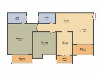 1295 sqft, 2 bhk Apartment in Ozone Greens Medavakkam, Chennai at Rs. 0