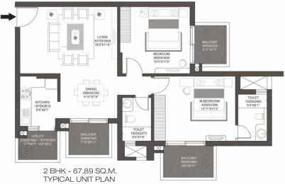 1269 sqft, 2 bhk Apartment in Godrej Summit Sector 104, Gurgaon at Rs. 0