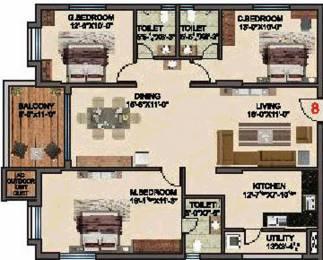 1695 sqft, 3 bhk Apartment in BRC Sri Hemadurga Sivahills Puppalaguda, Hyderabad at Rs. 0