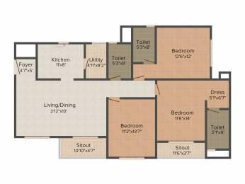 1830 sqft, 3 bhk Apartment in Goyal Orchid Lakeview Bellandur, Bangalore at Rs. 0