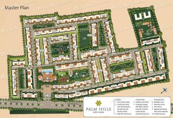 1950 sqft, 4 bhk Apartment in Emaar Palm Hills Sector 77, Gurgaon at Rs. 1.3650 Cr