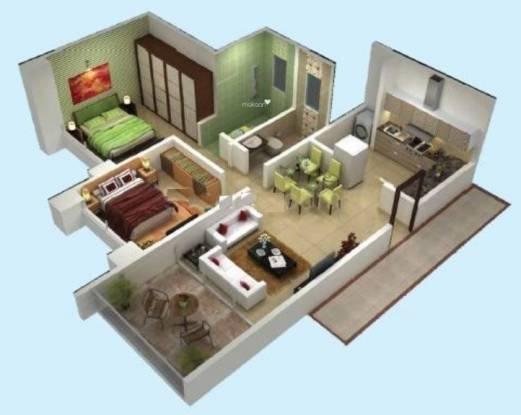 Rama Air Castles (2BHK+2T (837 sq ft) Apartment 837 sq ft)
