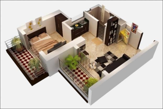 Ravi Gaurav Legend (1BHK+2T (765 sq ft) + Study Room Apartment 765 sq ft)