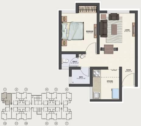 TATA Crescent Lake Homes (1BHK+2T (570 sq ft) Apartment 570 sq ft)