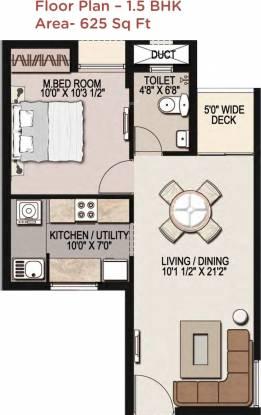 Mantri Navaratna (1BHK+1T (625 sq ft) Apartment 625 sq ft)