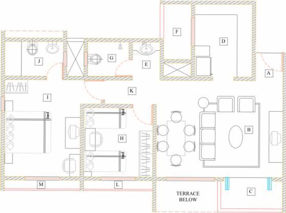 Akshar Elementa  (2BHK+2T (1,110 sq ft) Apartment 1110 sq ft)