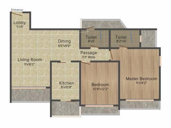 Lokhandwala Spring Grove (2BHK+2T (1,120 sq ft) Apartment 1120 sq ft)