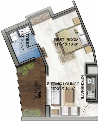 Supertech North Eye (1BHK+1T (520 sq ft) Apartment 520 sq ft)