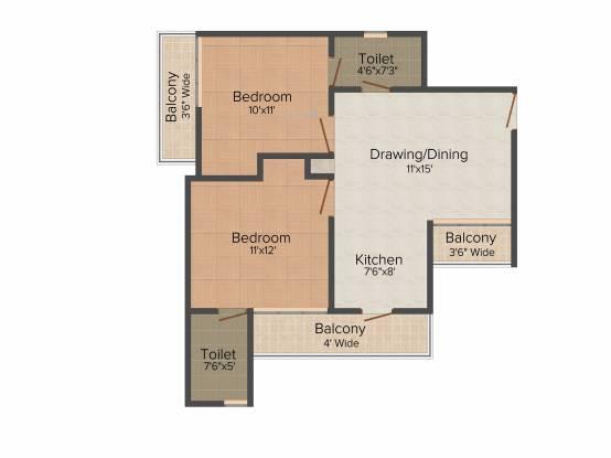Gardenia Glory (2BHK+2T (950 sq ft) + Pooja Room Apartment 950 sq ft)