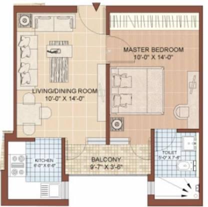 Jaypee Kasa Isles (1BHK+1T (535 sq ft) Apartment 535 sq ft)