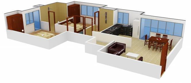 Today Homes Canary Greens (2BHK+2T (1,275 sq ft)   Pooja Room Apartment 1275 sq ft)