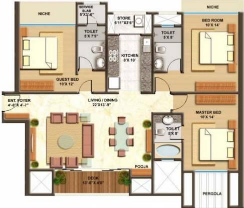 Lodha Imperia (3BHK+3T (1,557 sq ft) Apartment 1557 sq ft)