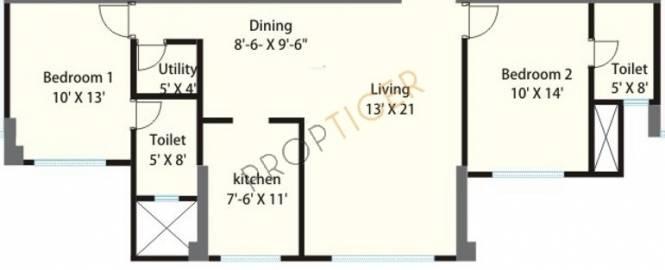 Sheth Grandeur (2BHK+3T (1,315 sq ft) Apartment 1315 sq ft)