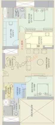 Orbit Terraces (2BHK+2T (1,610 sq ft) + Study Room Apartment 1610 sq ft)