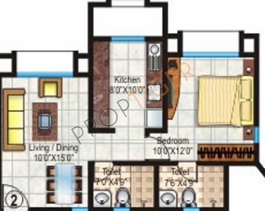 Hiranandani Heritage (1BHK+2T (640 sq ft) Apartment 640 sq ft)