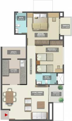 TATA Inora Park (2BHK+2T (1,012 sq ft) Apartment 1012 sq ft)