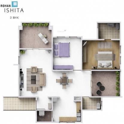 Rohan Ishita (2BHK+2T (1,143 sq ft) Apartment 1143 sq ft)