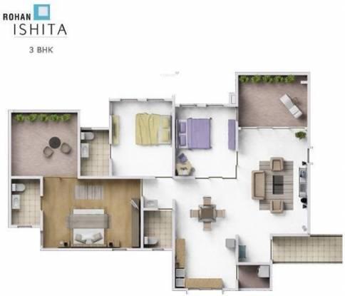 Rohan Ishita (3BHK+3T (1,440 sq ft) Apartment 1440 sq ft)