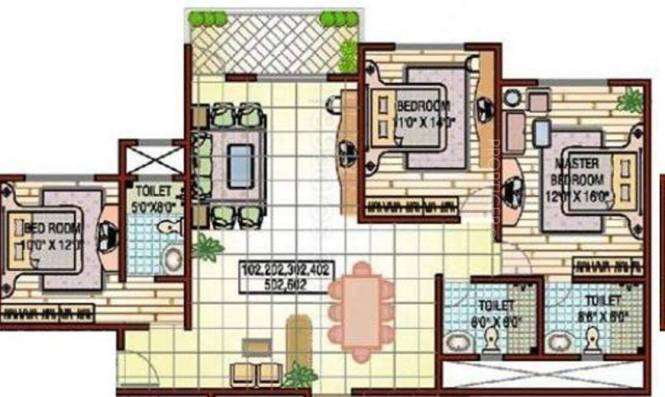 Kolte Patil Elburz Hills Dales (3BHK+3T (2,030 sq ft) Apartment 2030 sq ft)