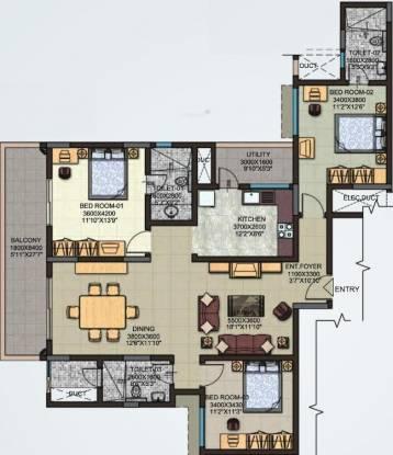 Sobha Moonstone (3BHK+3T (1,804 sq ft) Apartment 1804 sq ft)