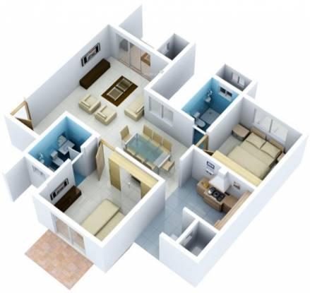 Vaishnavi Nakshatra (2BHK+2T (1,195 sq ft) Apartment 1195 sq ft)