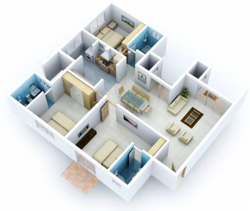 Vaishnavi Nakshatra (3BHK+3T (1,699 sq ft) Apartment 1699 sq ft)