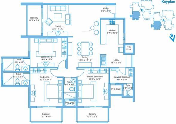 Vaishnavi Splendour (3BHK+3T (2,191 sq ft)   Servant Room Apartment 2191 sq ft)