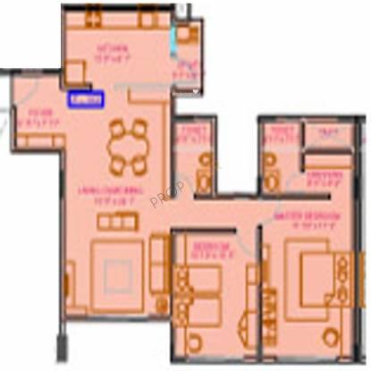 Suraj Ganga Socrates (2BHK+2T (1,360 sq ft) Apartment 1360 sq ft)