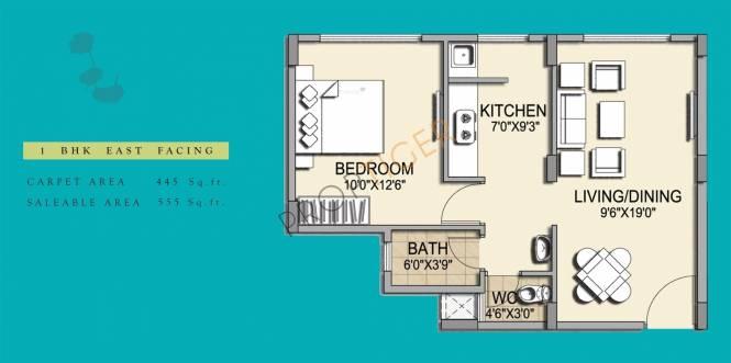 Pride Horizon (1BHK+1T (555 sq ft) Apartment 555 sq ft)