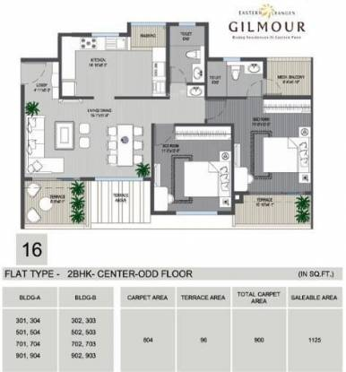 Phadnis Eastern Ranges (2BHK+2T (1,125 sq ft) Apartment 1125 sq ft)