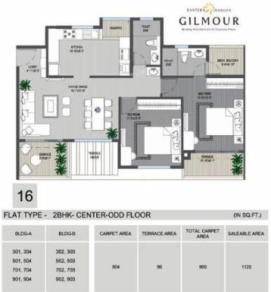 Phadnis Eastern Ranges (2BHK+2T (1,125 sq ft) Apartment 1125 sq ft)