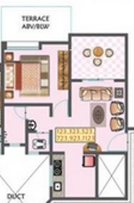 OM Golden Palms (1BHK+1T (595 sq ft) Apartment 595 sq ft)