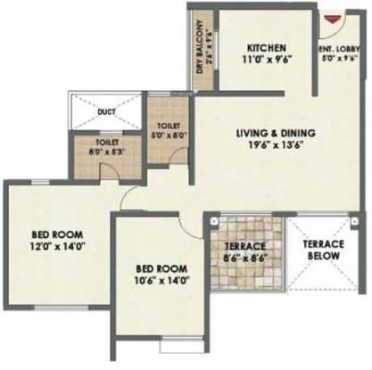 Pride Platinum (2BHK+2T (1,220 sq ft) Apartment 1220 sq ft)