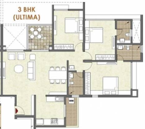 Pride Platinum (3BHK+3T (1,690 sq ft) Apartment 1690 sq ft)