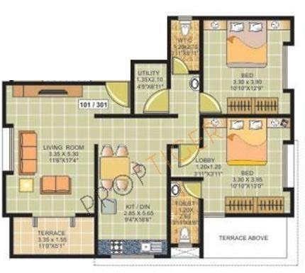 Ranjeet S S Tanishque (2BHK+2T (1,139 sq ft) Apartment 1139 sq ft)