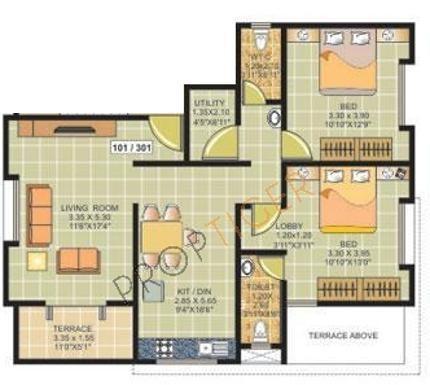 Ranjeet S S Tanishque (2BHK+2T (1,139 sq ft) Apartment 1139 sq ft)