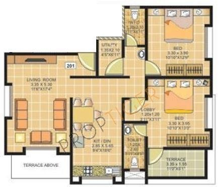 Ranjeet S S Tanishque (2BHK+2T (1,140 sq ft) Apartment 1140 sq ft)