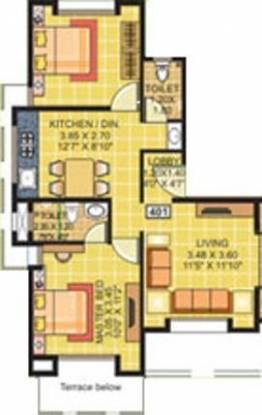 Ranjeet S S Lotus (2BHK+2T (974 sq ft) Apartment 974 sq ft)