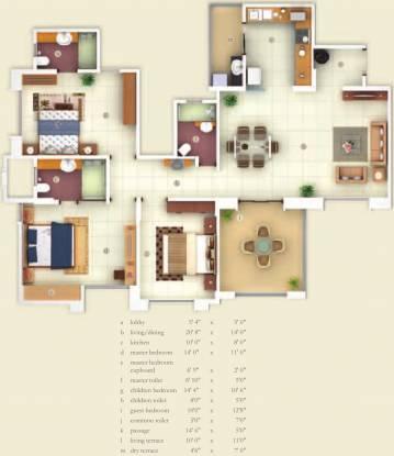 Kasturi Apostrophe (3BHK+3T (1,560 sq ft) Apartment 1560 sq ft)