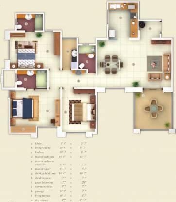 Kasturi Apostrophe (3BHK+3T (1,580 sq ft) Apartment 1580 sq ft)